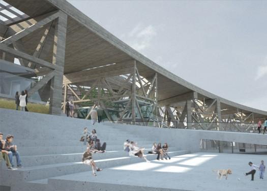 Underline Public Amphitheater | Rendering by John McGill